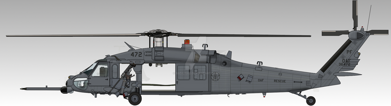 Osean Air Force HH-60G Pave Hawk by Basilisk2