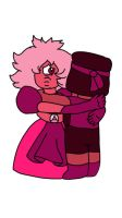 Pink Sapphire hugs Ruby  by SfCabanas15