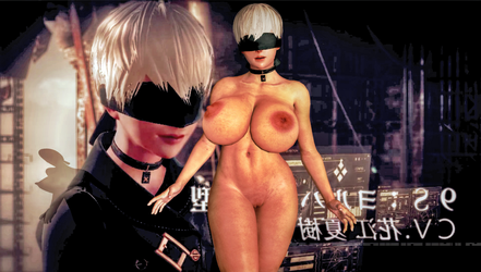 Nier : Automata 9S ( Nude ) (Fem-Version )( B2 ) by CyberBrian360