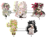 Flora Themed Gaia Adopts :: Part 14 [OTA|OPEN] by ghostled