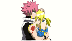 Natsu and Lucy by roby1383