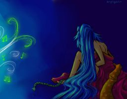 Miku: When I can not Sing... by Angel3Petals