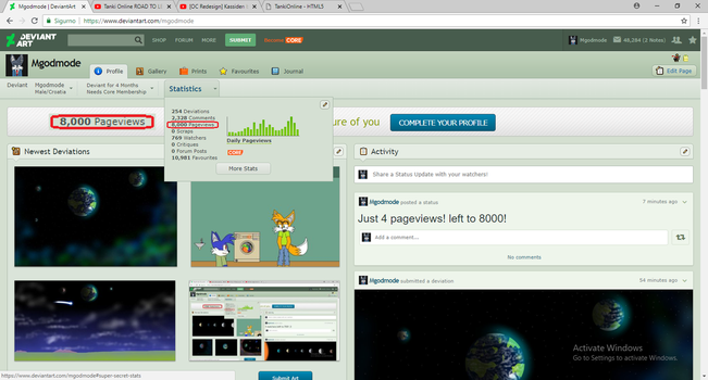 8000 Pageviews! by Mgodmode