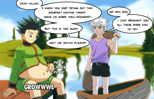 Killua Hunts, Gon Eats -txt- by splashcore