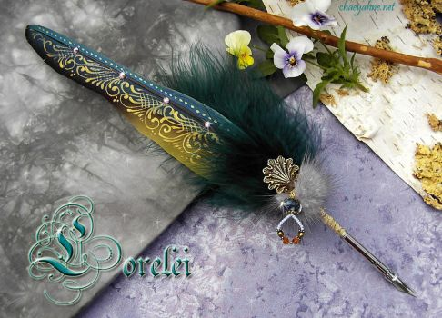 The LORELEI ... Feather Quill Pen by Chaey by ChaeyAhne