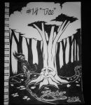 Inktober Day 14: (Tree) by FeralDoodle