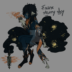 Faux Starry Sky Opia Adopt (CLOSED) by xminxicat