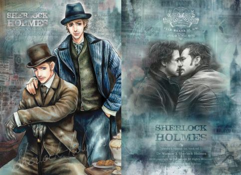 SHERLOCK HOLMES FAN BOOK 2010 old art by JUN-KAMIJO