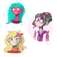 Sketch Ocs by TreeGreen12