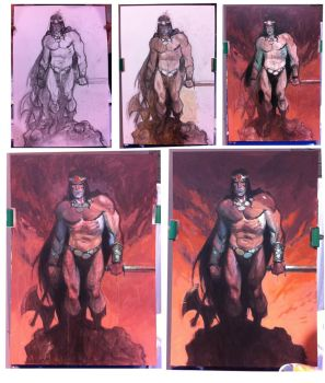 Conan Painting in Progress by Andrew-Robinson