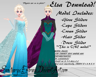 {MMD DOWNLOAD} Elsa (Coronation + Ice Queen) by MariCorsair