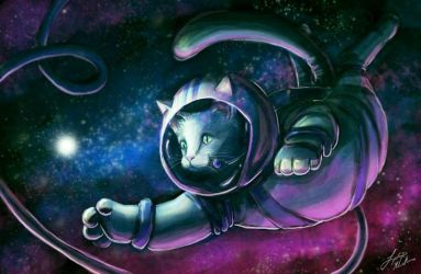 Luna, the Cosmonaut Kitty by Lydia415