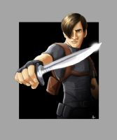 Leon and his knife by MPdigitalART