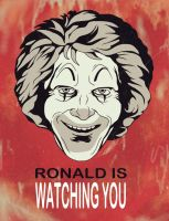 Ronald Is Watching You by Lady-in-Ink