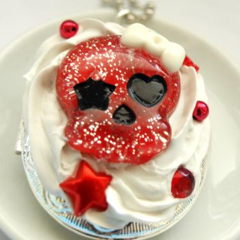 Whipped Cream Skull Locket by AndyGlamasaurus