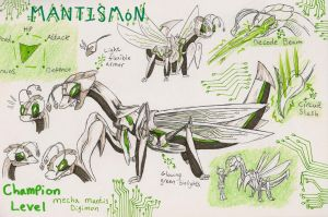 Mantismon Reference by Mad-Zazzy