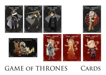 Japan Expo - Game of Thrones cards by coda-leia