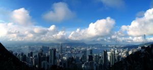 Hong Kong:Day with Blue Sky by johnchan