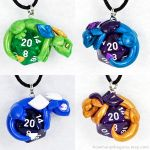 Available D20 Dragon Pendants by HowManyDragons
