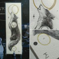 howling wolf bookmark by Kaos-Nest