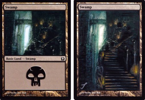MTG Swamp altered art by JensEklund
