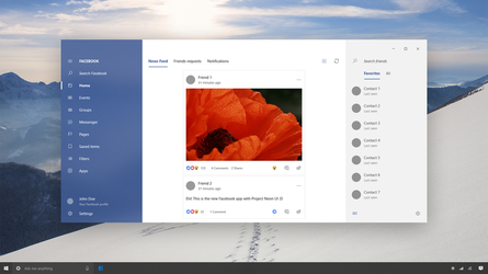 Facebook 2.0 - Win10 Project Neon Project by SamuDroid