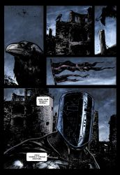 Dark Ages page 1 COLOR and TEXT by klarens