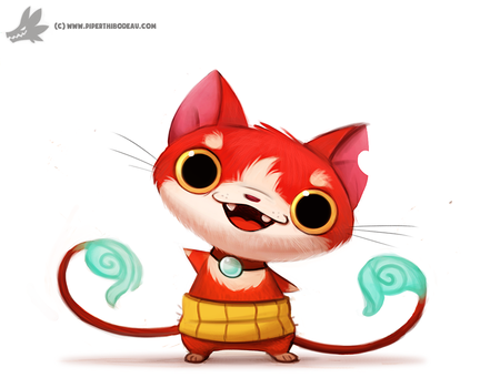 Daily Painting #939. (FA) Yo-Kai Watch by Cryptid-Creations