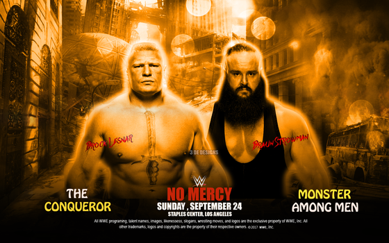 Braun Strowman Vs Brock Lesnar at No Mercy by De-Taimour