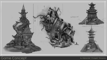 Concept Sheet for personal project: Temple of doom by ChargeIn