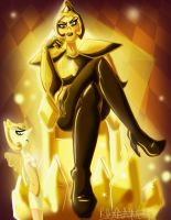Yellow Diamond and her Pearl by RoxyRox793
