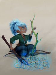More Spirit the Gnome druid  by Ogre-Mask