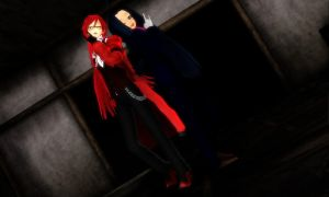 October MMD Challenge 13 - Haunted House by Sheila-Sama-15