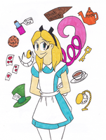 Alice and Cheshire by charlotte199056