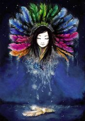 Child of feathers by Waleria
