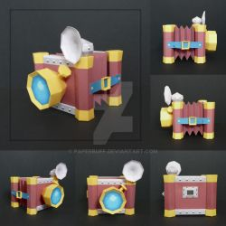 Picto Box Papercraft by PaperBuff