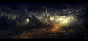 Environment Sketch - Cursed Reign by ChrisDrake1987