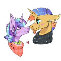 [MLP NextGen] The Poncho and The Scarf by FlooferDragon