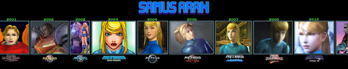 Samus Aran Through The Years (1986-2017) by s3k94