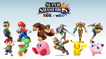 Super Smash Bros. 4 Wallpaper - The Original 12 by TheWolfBunny