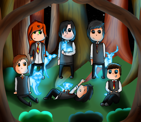 Fun with Patronuses :D by VavA-Felsenheimer