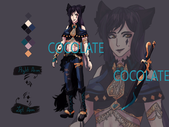 OPEN AUCTION -Male Black sword ADOPT 5 by Cocolate-Adopt