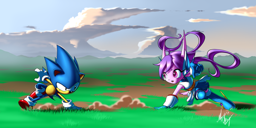 Sonic and Lilac: Freedom Fighters by Digi-Ink-by-Marquis