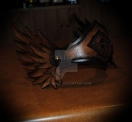 leather valkyrie tiara by Lagueuse