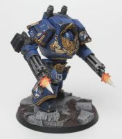 Ultramarines Alpha Company Contemptor by jstncloud
