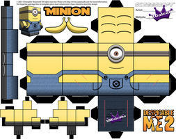 Despicable Me Minion with One eye Template by SKGaleana