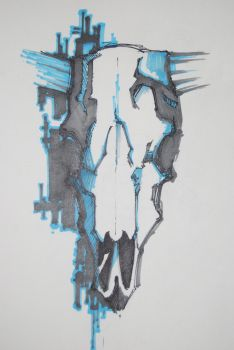 skull of a cow by khor11