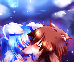 .:kiss under moonlight:. by The-Supreme-Goddess