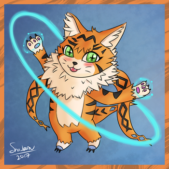 Colouring Test - Meicoomon by Yukireon