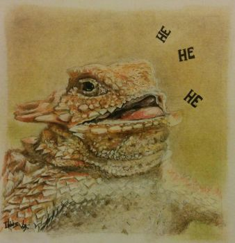 Laughing lizard by Irbisty